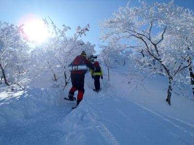 大山冬山登山