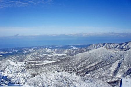 冬の大山山麓