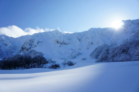 冬の大山元谷