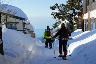 冬の大山寺参道