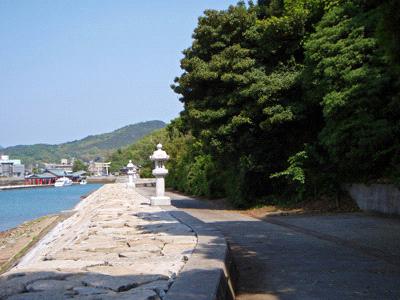 阿奈波神社参道