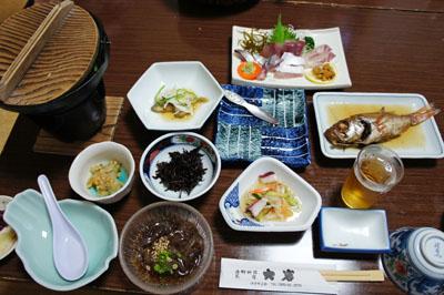 民宿大岩夕食