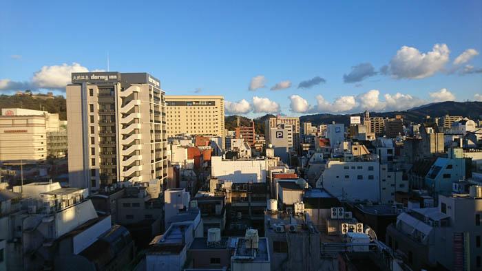 チェックイン松山最上階からの眺め