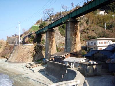 予讃線のレトロな鉄橋