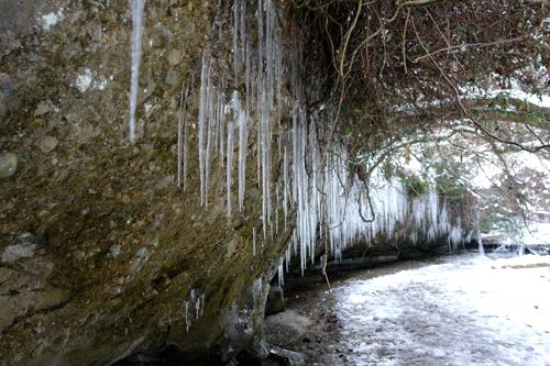冬の滑川渓谷