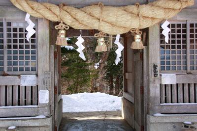 冬の石鎚山成就神門