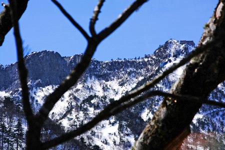 冬の石鎚山