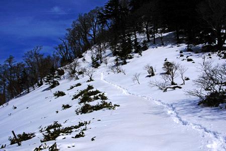 雪の夜明峠