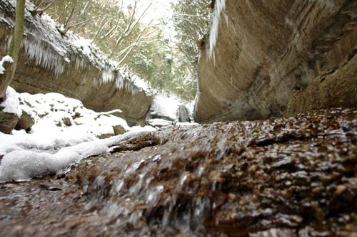 滑川渓谷冬の奥の滝
