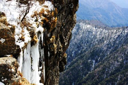冬の石鎚山登山