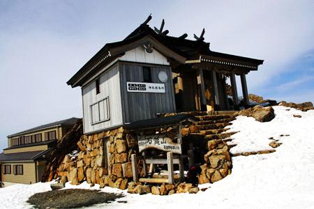 冬の石鎚山頂上