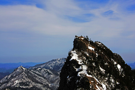 冬の石鎚山天狗岳