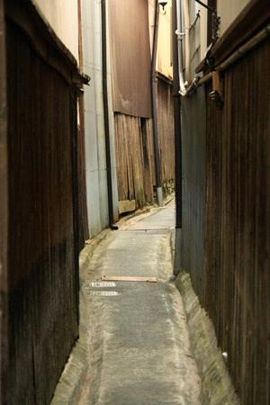 内子の裏路地