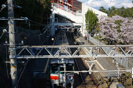 春の須磨浦公園駅