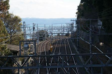 須磨浦公園駅付近の山陽電鉄