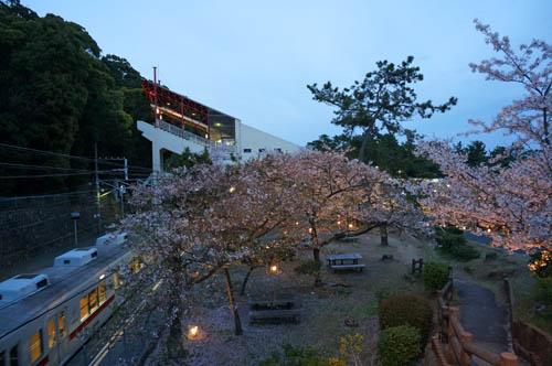 須磨浦公園駅ライトアップ