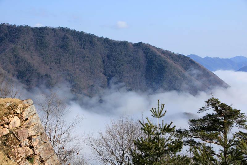 雲海上の竹田城