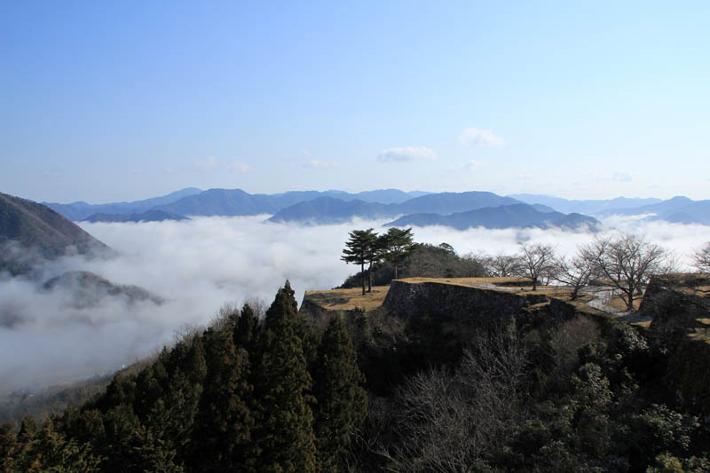 雲海に浮かぶ竹田城