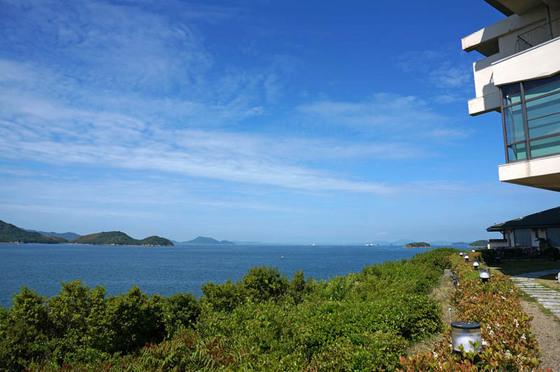 鷲羽グランドホテル備前屋甲子と瀬戸内海