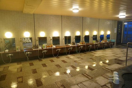 鷲羽グランドホテル備前屋甲子浴室