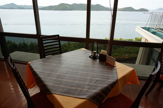 鷲羽グランドホテル備前屋甲子レストランからの展望