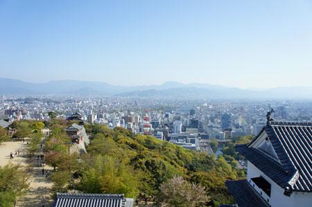 松山城天守閣からの眺め