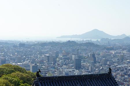 松山城天守閣からの瀬戸内海