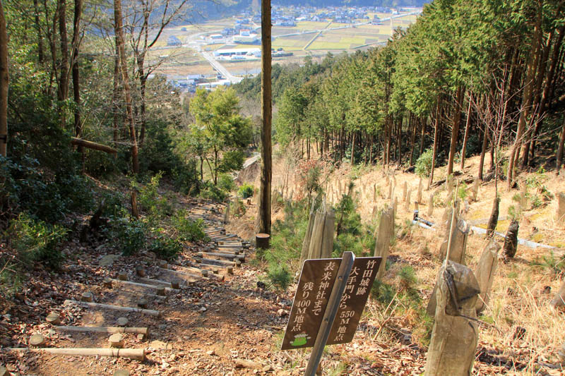 竹田城表米神社登山道