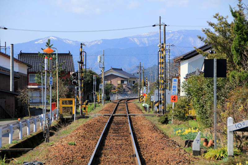 竹田駅付近の線路