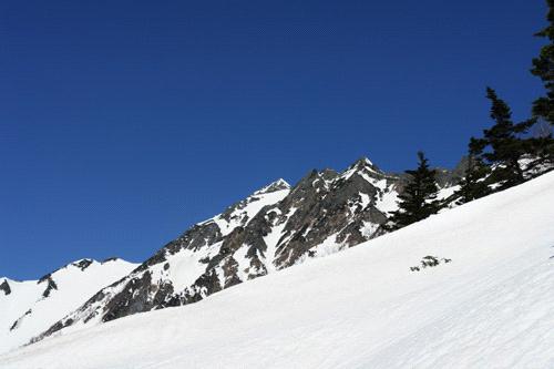 雪の西穂高登山