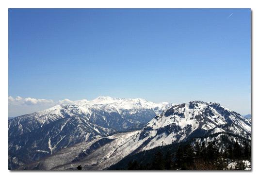 西穂高稜線からの乗鞍岳