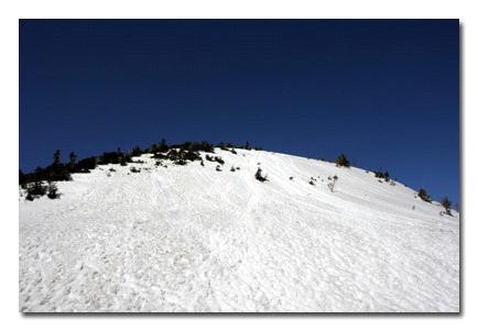 冬の西穂高稜線