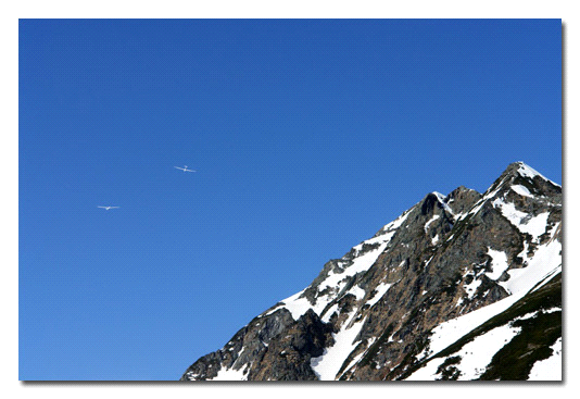 残雪の西穂高岳