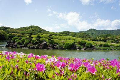 ツツジ咲く南楽園