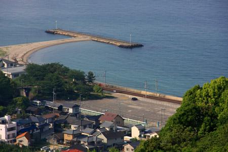 経ヶ森から見下ろす伊予鉄道