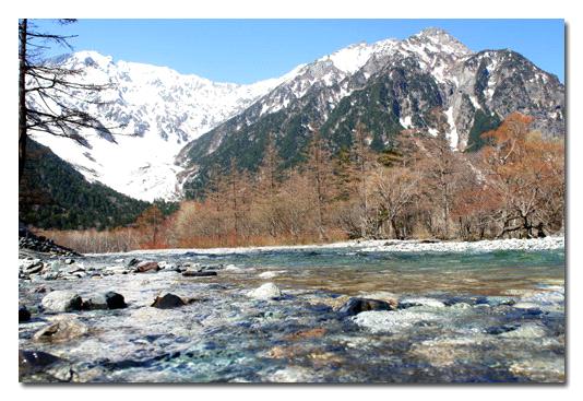 雪解けの梓川