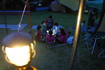 カヌー館のキャンプ