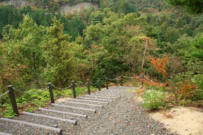 朝倉ダム湖畔緑水公園遊歩道