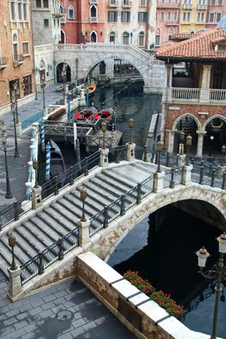 ホテルミラコスタヴェネツィアサイドからの朝の風景