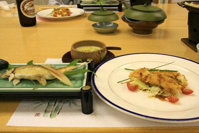 かんぽの宿伊野夕食