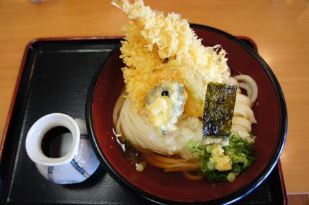 うどん瓢月おろし天ぷらうどん