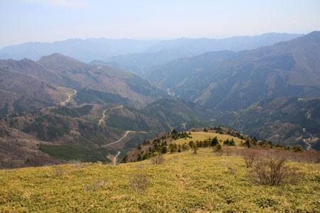 笹ヶ峰からの高知側展望