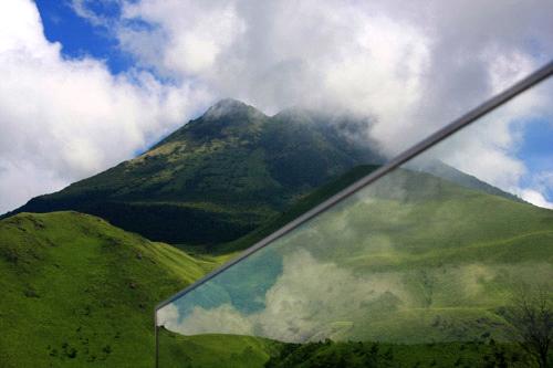 狭霧台から望む由布岳