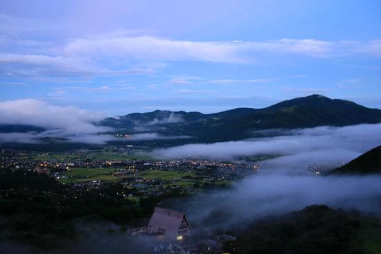 狭霧台の朝霧