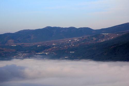 狭霧台からの雲海