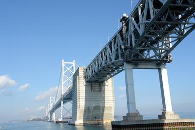 瀬戸大橋記念館から望む瀬戸大橋