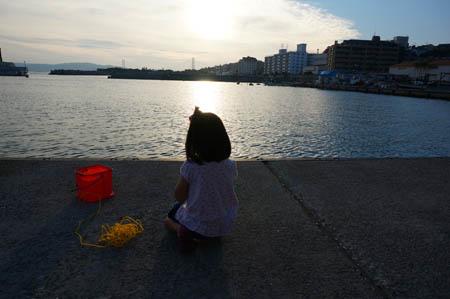 塩屋漁港子供釣り