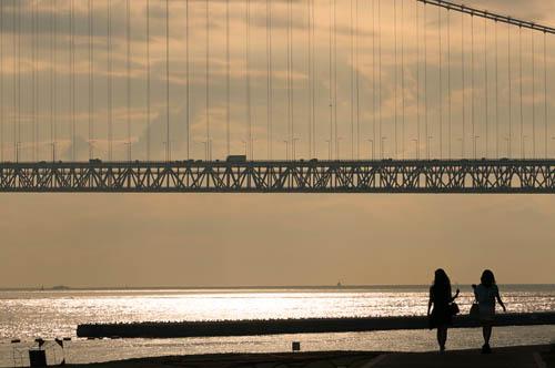 明石海峡大橋夕景