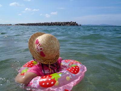 皆生温泉子連れ海水浴