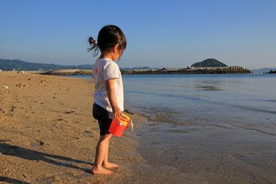 風早長浜海岸で遊ぶ